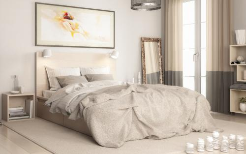 Contemporary Bedroom Arrangement - 3d visualization